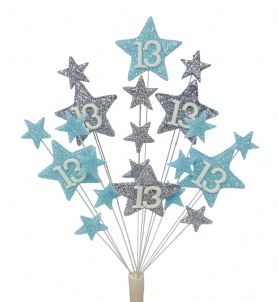Star age 13th birthday cake topper decoration - free postage
